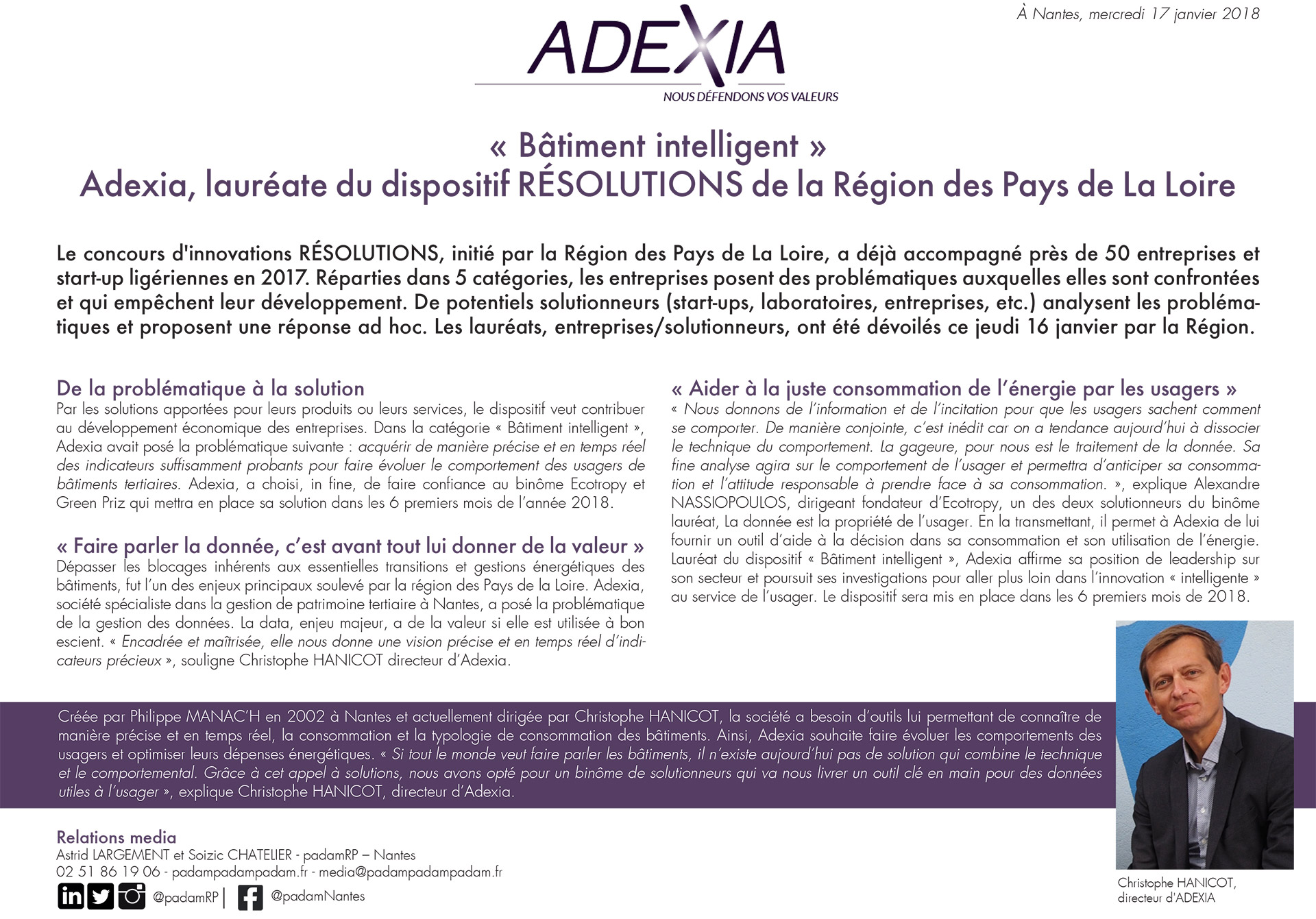 adexia resolutions pays de la loire